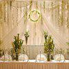 EXCELVAN 3m x 3m 300-LED 8 Functions String Curtain Light - WARM WHITE