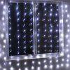 EXCELVAN 3M x 3M 300LED 8 Functions String Light Curtain - WHITE