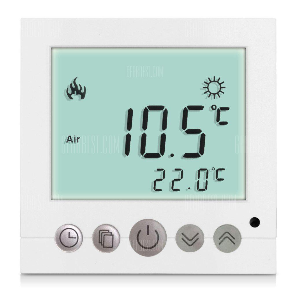 C16.GH3 16A White LCD Display Thermostat