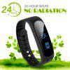 Diggro SW19 Smart Health Bracelet Fitness Bluetooth 4.0 Waterproof IP67 Pedometer Message Longsit Reminder Sleep Calories Tracker Remote Capture Music Controller for Android - BLACK