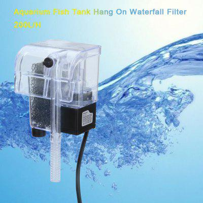 230L/H Aquarium Hang On Waterfall Filter For Fish Tank 2W SL-300