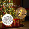 20 LED Warm White Electroplating Steel Hollow Moon String Light Indoor&Outdoor Decorative String Lights 2.2M Battery Fairy Lights for Christmas, Wedding, Festival, Party (Warm White)