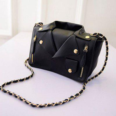 Guapabien high quality leather jacket bag shoulder bag diagonal chain rivet zipper clothes handbags