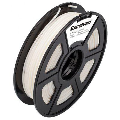 Excelvan New 3D Flexible Filament 1.75mm Elastic for Print RepRap MarkerBot 0.5kg/1.1lbs, White