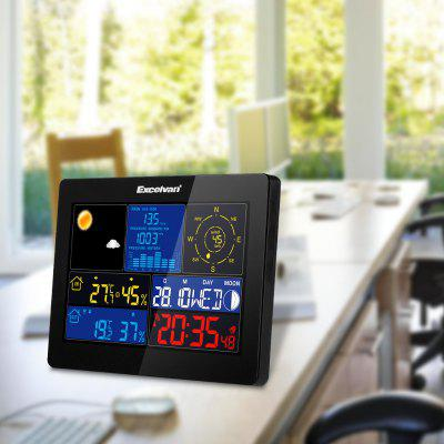EXCELVAN COLOR Wireless Weather Station Clock