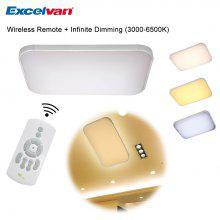 Excelvan®006S Wireless Remote Control Infinite Dimming 36W LED Ceiling Light,220V, 3000K-6500K Adjustable. Widely Use, Suitable for Living Room, Kitchen, Hotel, Meeting Room. Functional Intelligent Li