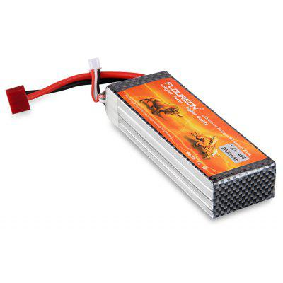 Floureon 2S2P 7.4V 8000mAh 40C with Deans Plug LiPo Battery Pack for RC Evader BX Car, RC Truck, RC Truggy RC Airplane UAV Drone FPV