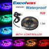 Excelvan 5050 RGB LED Light Strip Waterproof IP65 1.5M