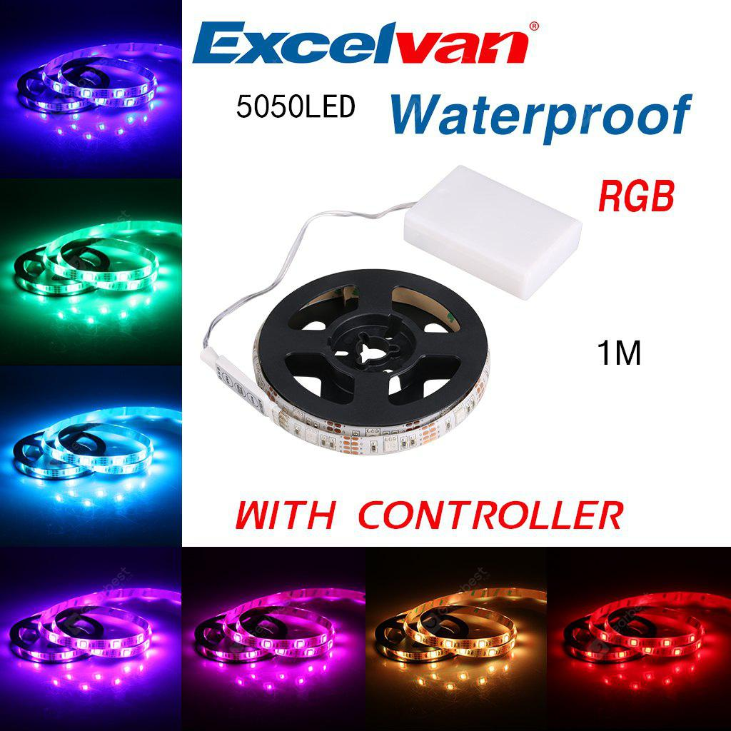 Excelvan 5050 RGB LED Light Strip Waterproof IP65 100CM