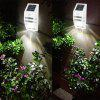 Excelvan Super Bright Outdoor Solar Powered Motion Activated LED Security Wall Light Emergency Light, Wireless Auto On/Off Light Control Motion Sensor Light, Build-in 1200mah Battery. For Path Porch D - WHITE