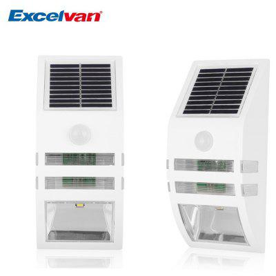 Excelvan Super Bright Outdoor Solar Powered Motion Activated LED Security Wall Light Emergency Light, Wireless Auto On/Off Light Control Motion Sensor Light, Build-in 1200mah Battery. For Path Porch D