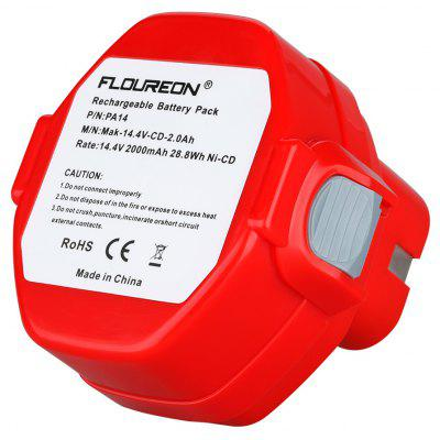 Buy FLOUREON 14.4V 2000mAh Ni-CD Rechargeable Battery Electrical & Tools > Power Tools > Batteries for $25.01 in GearBest store
