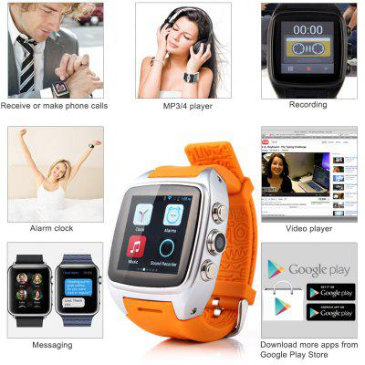 Newest IMacwear M7 Smart Watch Phone -- Android 4.4.2 OS Dual-core CPU 3G/GSM/WCDMA 1.54 Inch IPS Capacitive Screen Sports Pedometer Heart Rate Monitor GPS Waterproof 5.0 MP Camera Smart Watch phone