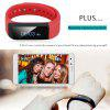 DIGGRO OLED Smart Bracelet IP65 waterproof Bluetooth 4.0 Pedometer Tracking Calorie Health Wristband Sleep Monitor Call Reminder Touch Screen Smart Wristband for Android IOS - RED