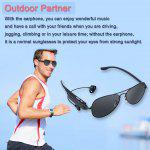 Wireless Bluetooth V2.1+EDR Polarized Sunglasses Headset Headphone Hands-Free Talk Voice Control for outdoor use for smart phone iPhone / Samsung / Sony - BLACK