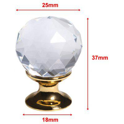 Floureon 8 x 25MM Golden Clear Glass Door Knob + Screw