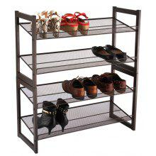 (SHOE 4) LANGRIA 4-Tier Angled Metal Mesh Shoe Rack,