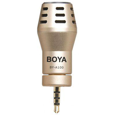 BOYA BY-A100 Mini Omni Directional Condenser Microphone 3.5mm Connection for iPhone6/6S 6S Plus iPad iPod Touch IOS Operation System Glod