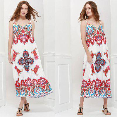2016 new arrival high quality printed  dress woman sexy bohemia spaghetti strap dress  beach dress holiday dress