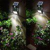 Excelvan Super Bright Outdoor Solar Powered Motion Activated LED Security Wall Light Emergency Light, Wireless Auto On/Off Light Control Motion Sensor Light, Build-in 1200mah Battery. For Path Porch D - BLACK