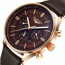 GUANQIN GQ12003 Men's Big Dial Quartz Watch