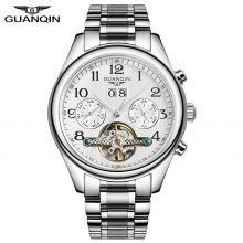 Swiss brand GUANQIN Classical Tourbillon Automatic Mechanical Watch Waterproof 100m Male Wristwatch