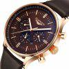 GUANQIN GQ12003 Men's Big Dial Quartz Watch - GOLD BEZEL BROWN DIA