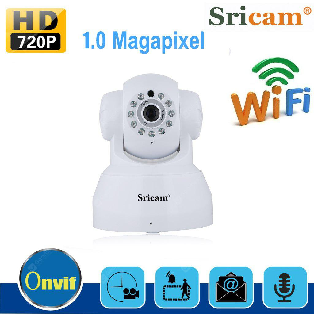 Sricam 720P Wifi Megapixel H.264 Wireless PT  CCTV Security IP Camera White UK