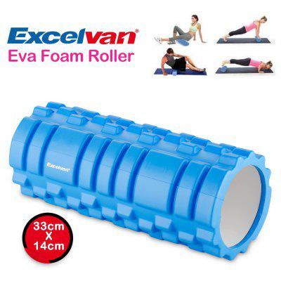 Excelvan Yoga Foam Roller EVA  Exercise Trigger Point GYM Pilates Texture Physio Massage 33x14cm Blue