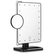 Ovonni 10X Magnifier LED Touch Screen Makeup Mirror  20 LEDs Lighted Make-up Cosmetic Mirror Portable Adjustable Vanity Tabletop Countertop