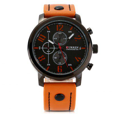 Curren 8192 Men Leisure Leather Strap watch Quartz Analog Fashion Wristwatch сланцы modis modis mo044amsdd69