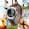 Diggro LEM1 Bluetooth Smart Watch Smartphone Mate Full HD Screen Siri Call Music Reminder Anti-lost for ios android pedometer sleep monitor - SILVER