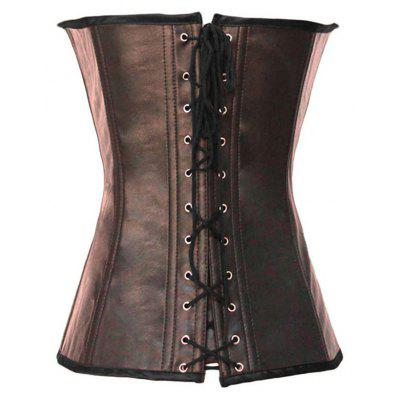 Фото Coffee /Black Buckle-up Steampunk Corset new fashion New corset women cloth. Купить в РФ