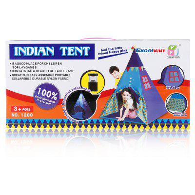 Excelvan Indian Teepee Tripod Play Tent Kids Hut Children House with Nightlights