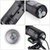 Excelvan® Multifunctional High Power Zoomable Portable LED Flashlight,10W,Perfect Blue + White 2-in-1 Light Source,1500LM White Light Torch, Adjustable Focus Zoom. Suitable for Outdoor Sports,Field Ph