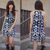 2016 new arrival casual printing dress woman   spaghetti strap dress - AS THE PICTURE