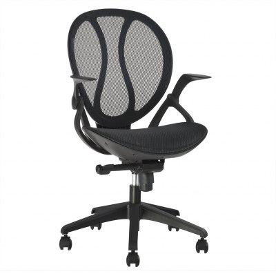 Buy  (DE MCB088 BLACK) LANGRIA Mid-Back Swivel Mesh Office Chair, Executive Computer Chair with Synchro-Tilt with 3-Position Locking and Adjustable Armrests, 140 Kg Capacity, Black for $233.02 in GearBest store