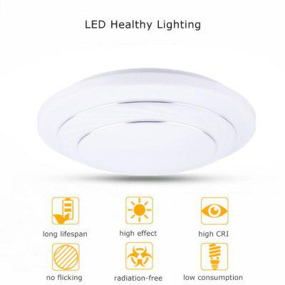 Floureon® 24W Round LED Ceiling Light, white/ natural white/ warm white 3 modes,3500k ~ 6400k Color Temperature, about 4000 Lumens, Round Flush Mount Fixture for Indoor Home Lighting. Energy Saving, S