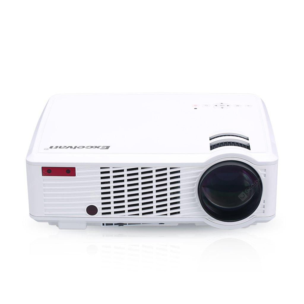 Excelvan 2600 Lumens LED HD Projector 33-02 Cinema Theater PC & Laptop AV / VGA / HDMI / USB Input - WHITE AU PLUG