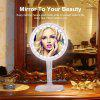 Ovonni 5X Maginifcation LED Makeup Mirror 360°  Free Rotation 24PCS LED Lights Cosmetic Mirror - PINK