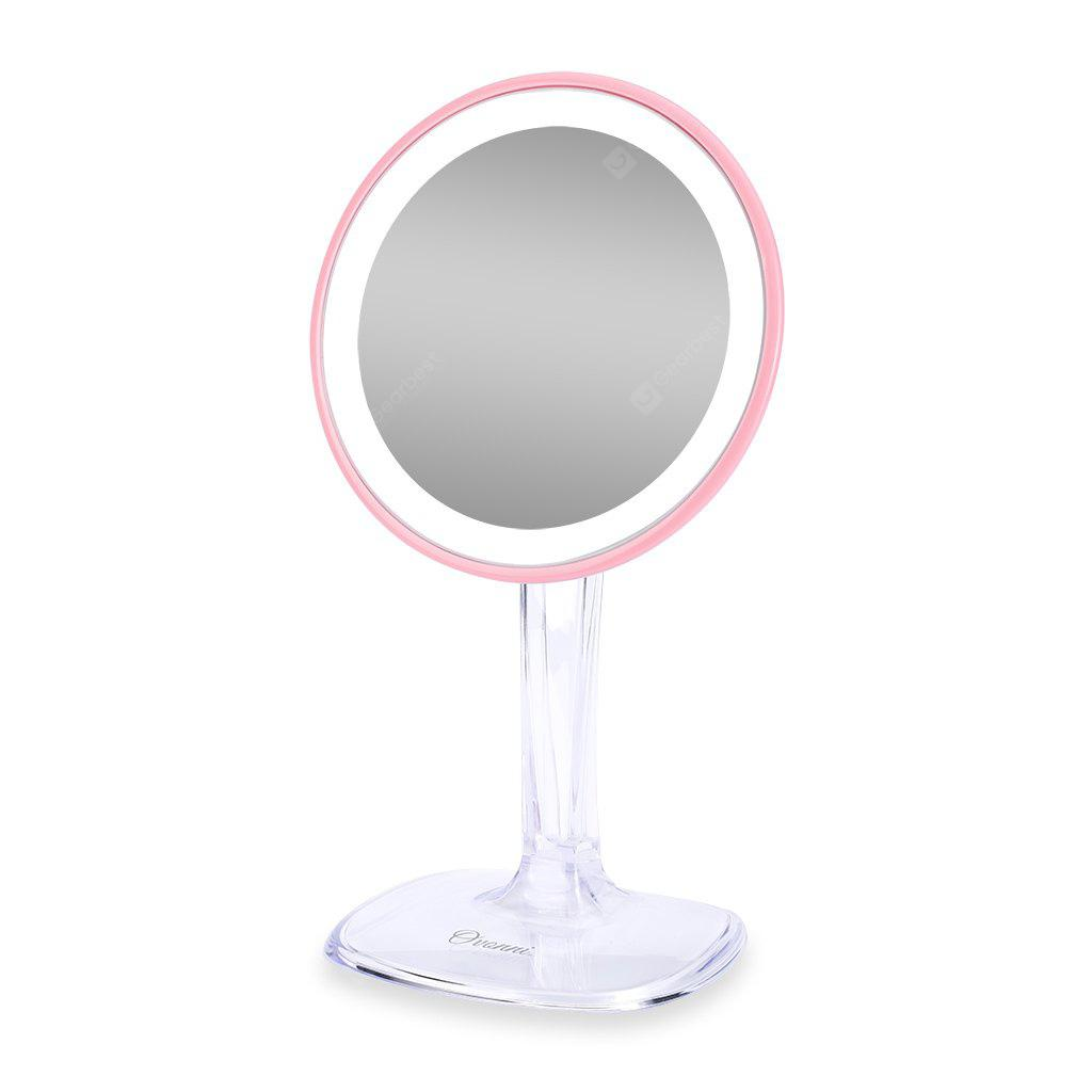 Ovonni 5X Maginifcation LED Makeup Mirror 360°  Free Rotation 24PCS LED Lights Cosmetic Mirror