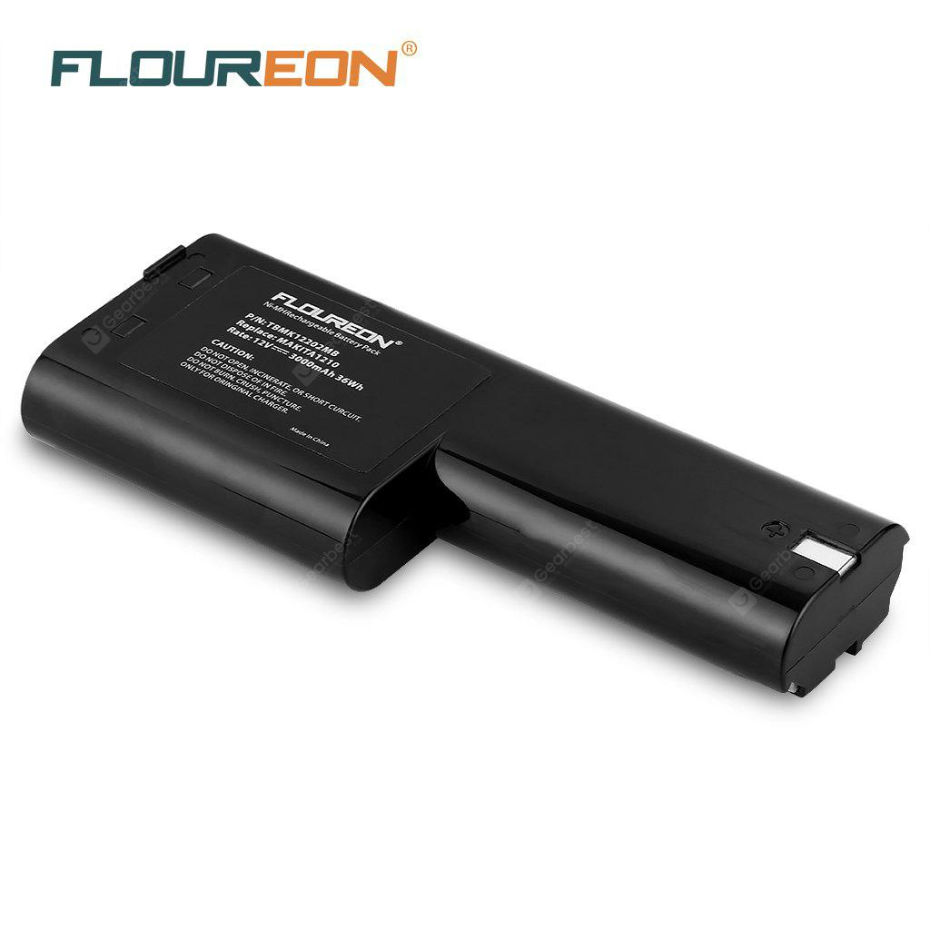FLOUREON 12V 3.0Ah Ni-MH Battery for Makita 1210 632277-5 5092D 5092DW 6011D