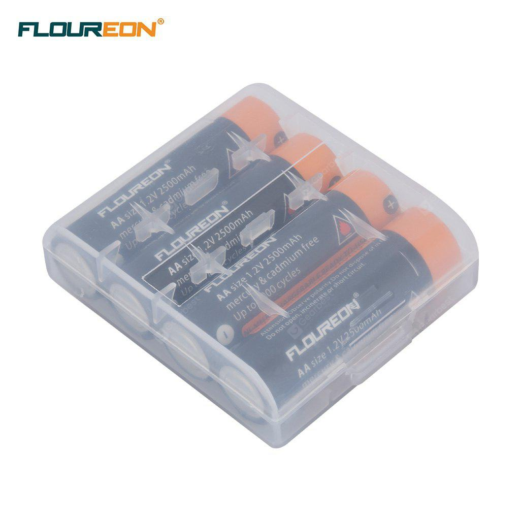 12PCS FLOUREON 1.2V 2500mAh Ni-MH Rechargeable Battery