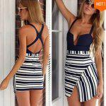 2016 new arrival summer style fashion  irregular hem design woman sexy v-neck backless condole belt dress - AS THE PICTURE