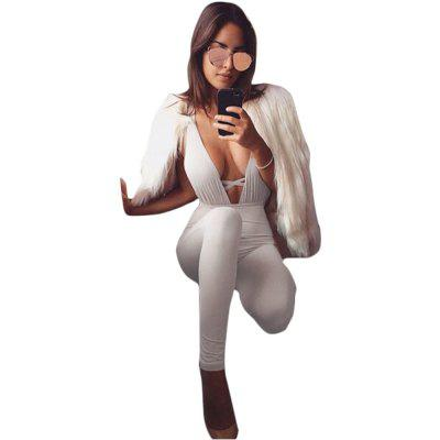 2016 new arrival summer sexy deep v and backless design woman fashion beach style jumpsuits
