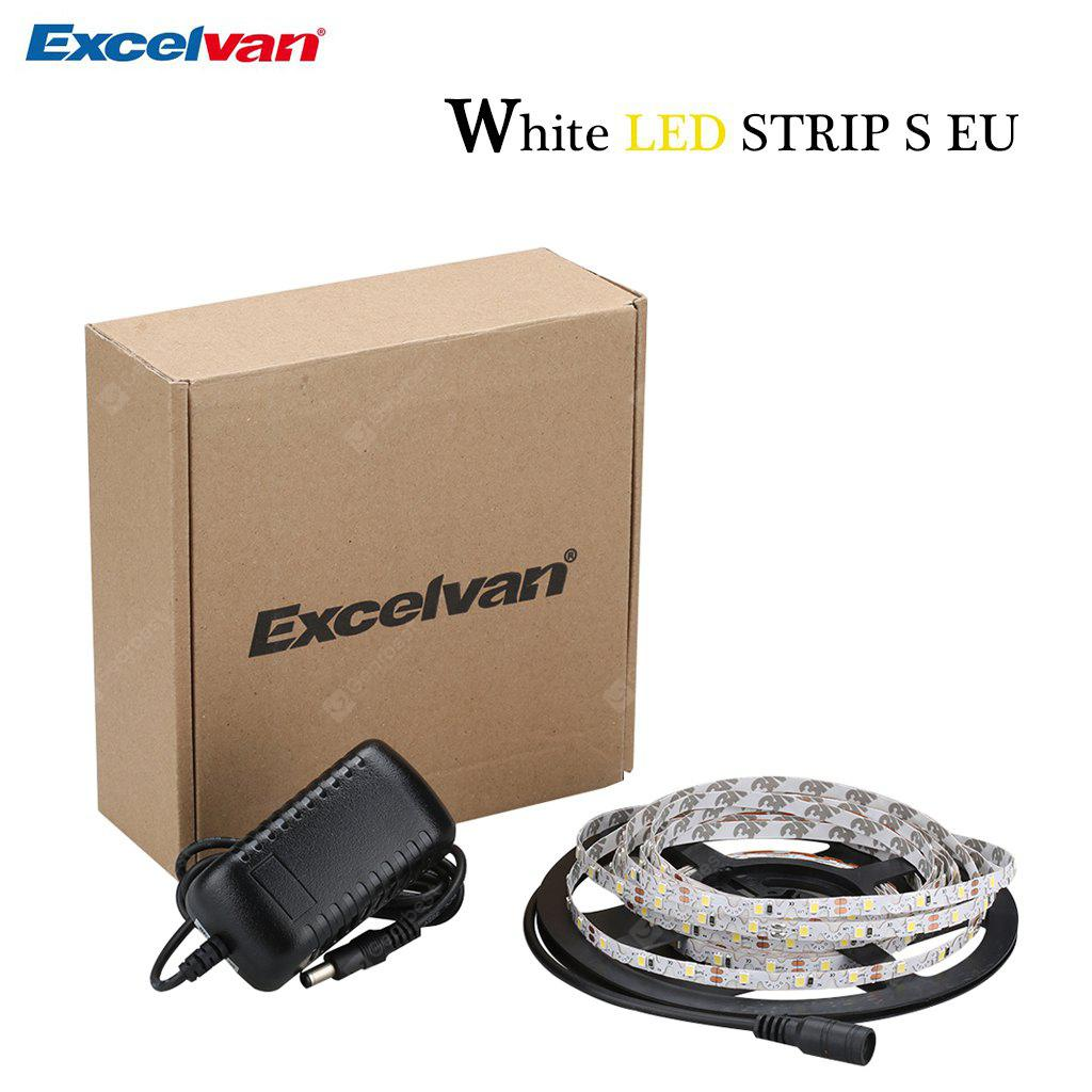 Excelvan 16.4ft 5M SMD2835 300 LEDs Warm White LED Light Strip Kit, 3000K Warm White Color, DC12V Power Adapter, Suitable Christmas New Year Birthday Parties Events Lighting Garment Decoratio