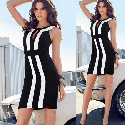 2016 new arrival summer fashion striped print design woman official style hip dress