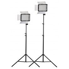 Craphy two pieces of PT-680s 608 pcs LED Video Light EU - SILVER