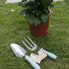 Finether OTYYGJ - 009 2pcs Outdoor Garden Hand Tool Set with Wood Handle Spade Fork - 51