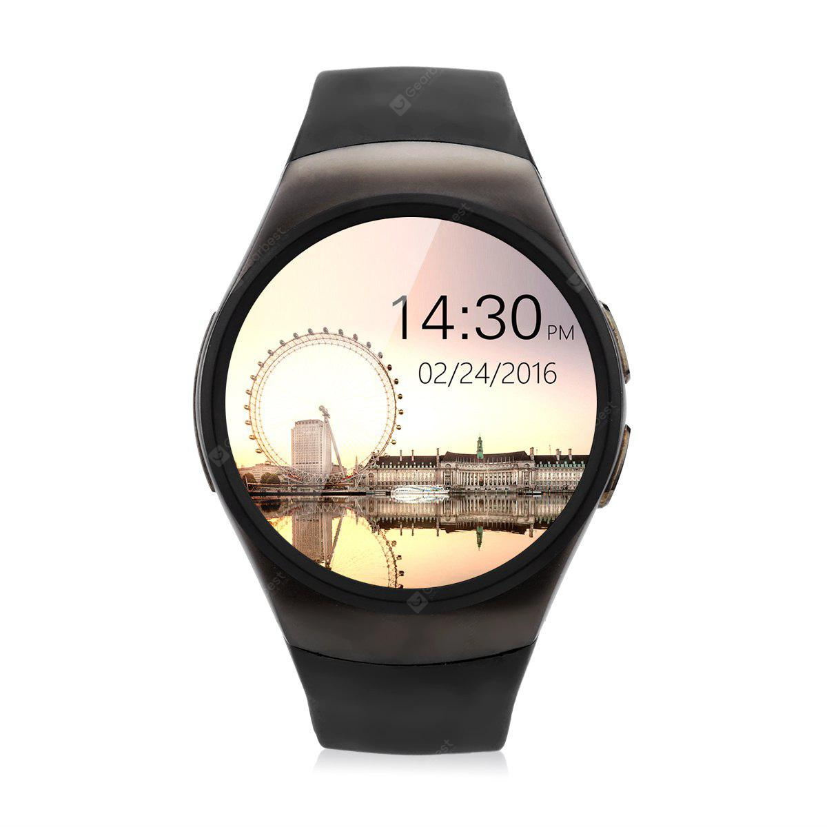 Excelvan KW18 Smart Watch Micro SIM Card Pedometer Heart Rate Monitor Sedentary Reminder Sleep Monitor Call/SMS Reminder for iOS and Android Phone